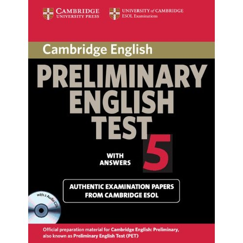 Cambridge Preliminary English Test 5 Self-study Pack