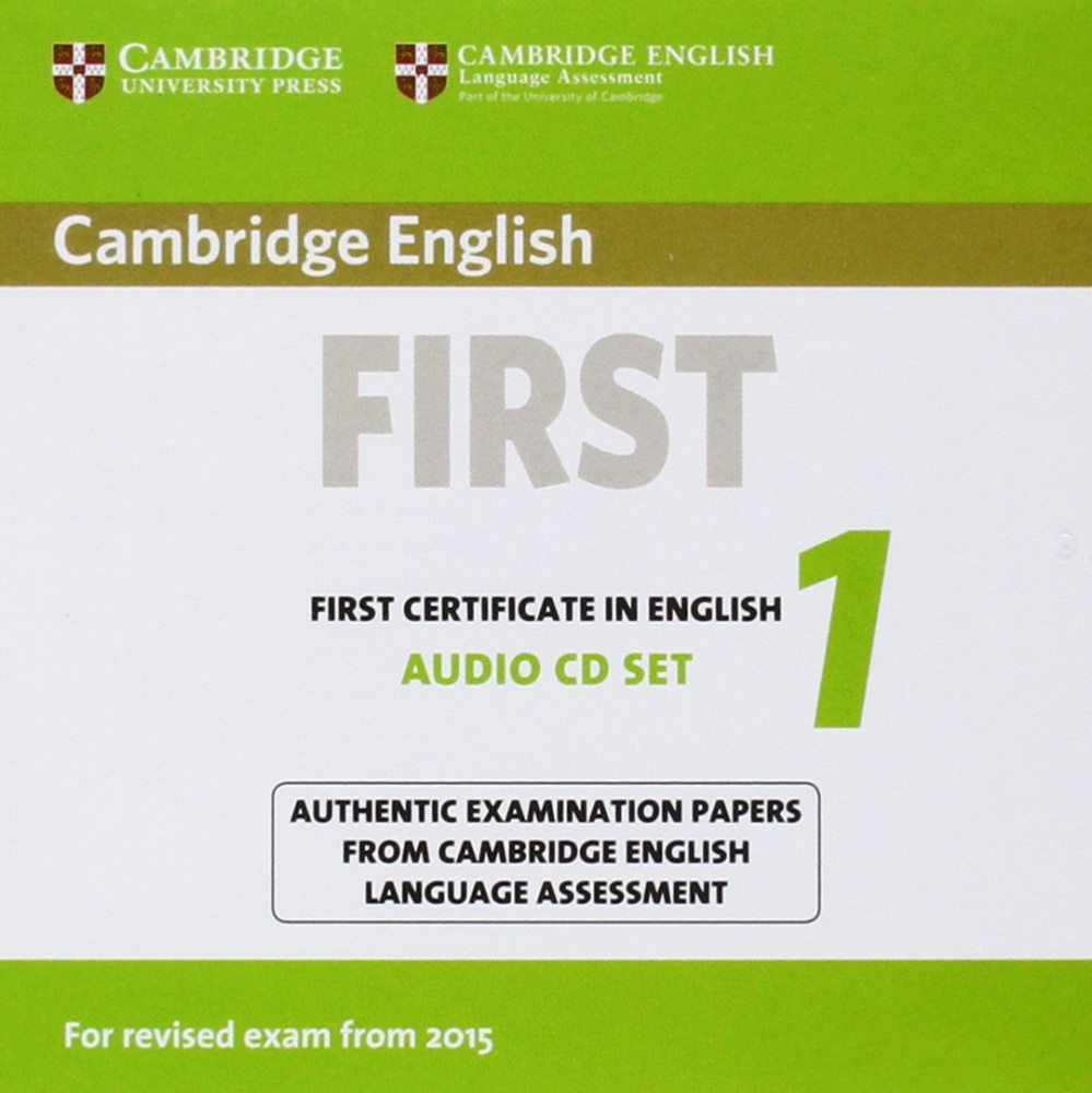 Cambridge English First 1 (for revised exam 2015) Audio CDs (2)