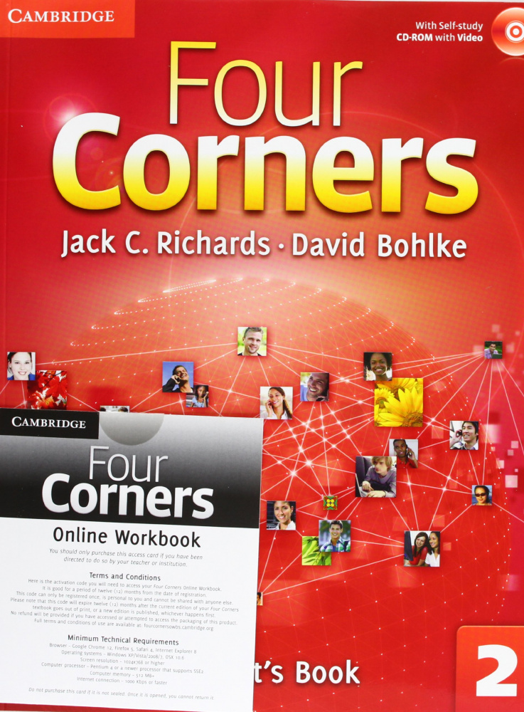 Four Corners Level 2 Student's Book with Self-study Audio CD and Online Workbook Pack