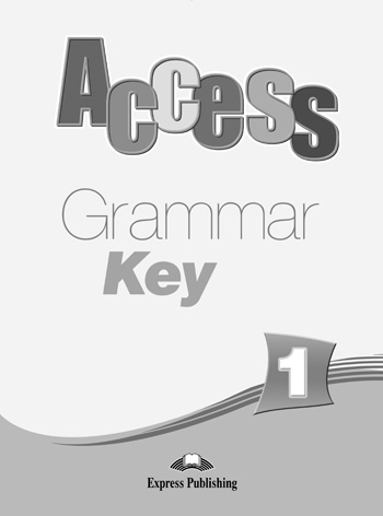 Access 1 Grammar Book Key