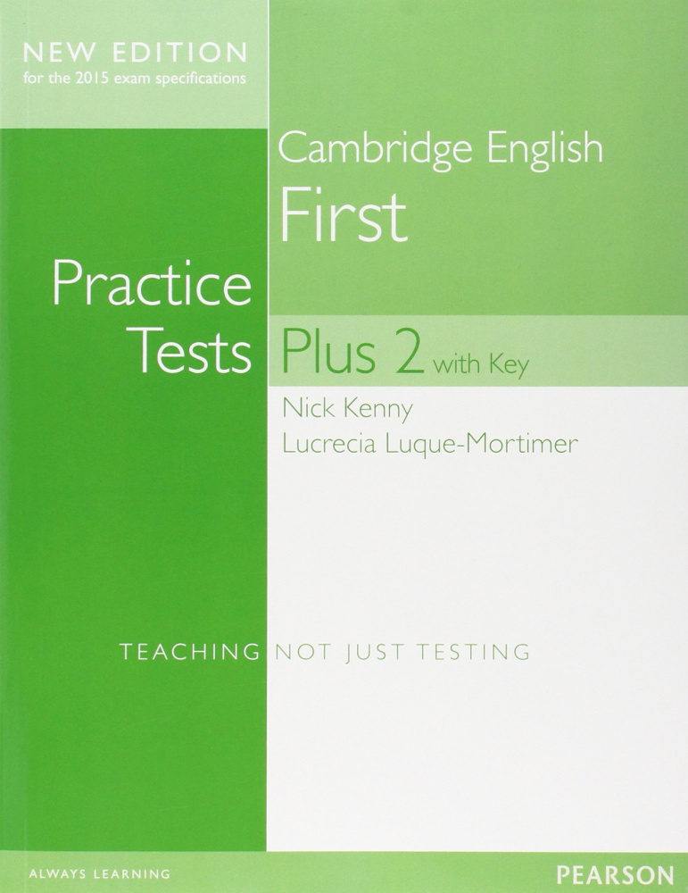 Cambridge First Practice Tests Plus New Edition Student's Book with Key