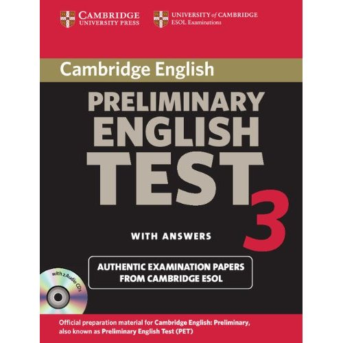 Cambridge Preliminary English Test 3 Self-study Pack