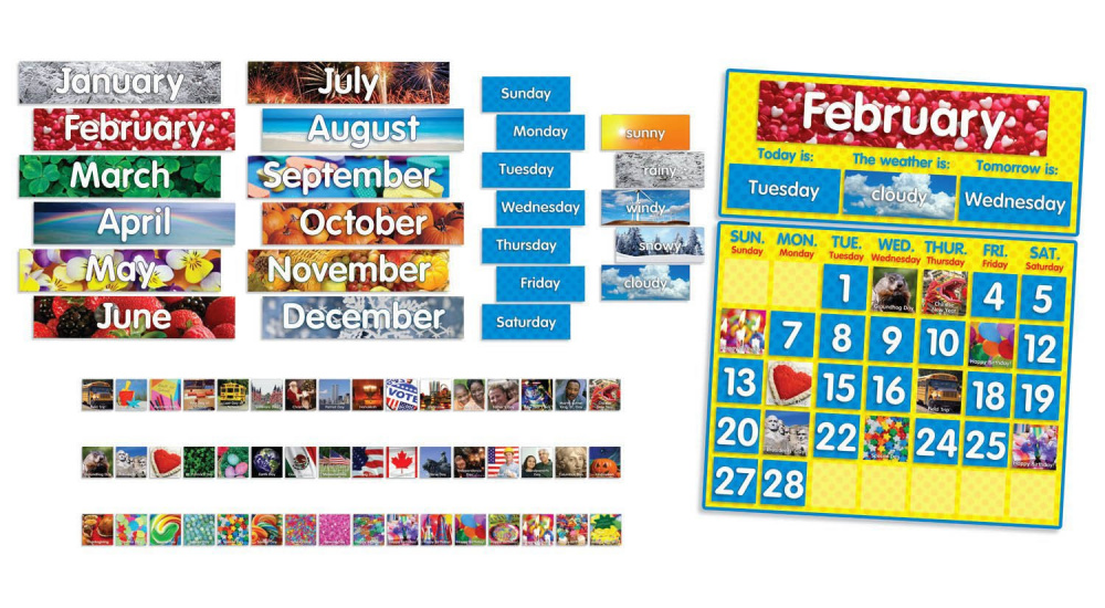 Photo Calendar Bulletin Board