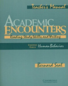 Academic Encounters: Human Behavior Teacher's manual: Reading, Study Skills, and Writing