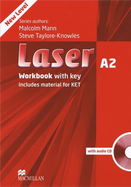Laser Third Edition A2 Workbook with Key and CD Pack