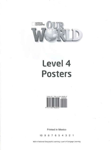 Our World 4 Poster Set