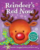 Reindeer's Red Nose: Sticker & Activity Fun