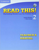 Read This! 2 Teacher's Manual with Audio CD