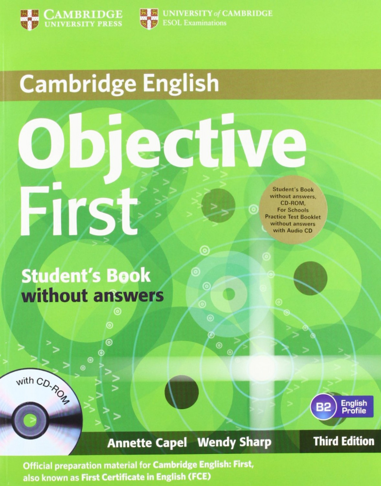 Objective First For Schools 3rd Edition Pack without Answers (Student's Book with CD-ROM, Practice Test Booklet with Audio CD