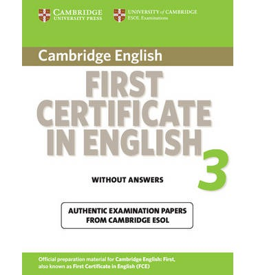 Cambridge First Certificate in English 3 for updated exam Student's Book without answers