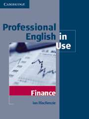 Professional English in Use Finance Book with answers