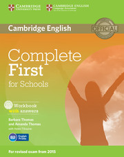 Complete First for Schools (for revised exam 2015) Workbook with answers with Audio CD