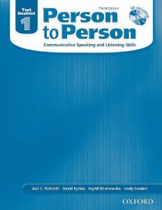 Person to Person Third Edition 1 Test Booklet