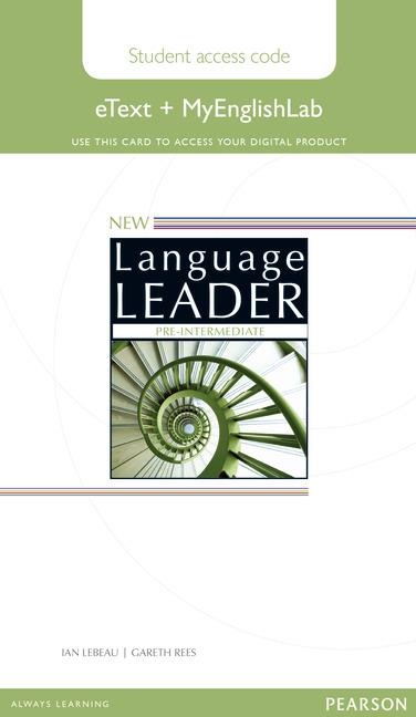 New Language Leader Pre-intermediate eText Coursebook with MyEnglishLab Pack (Workbook)