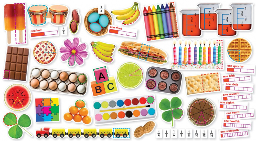 Fractions In Photos Mini Bulletin Board Set