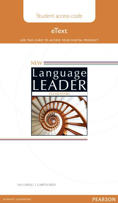 New Language Leader Elementary Teacher's eText for Iwb