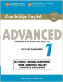 Cambridge English Advanced 1 (for revised exam 2015)