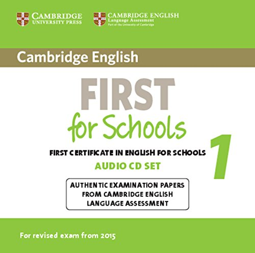 Cambridge English First 1 for Schools (for revised exam 2015) Audio CDs (2)