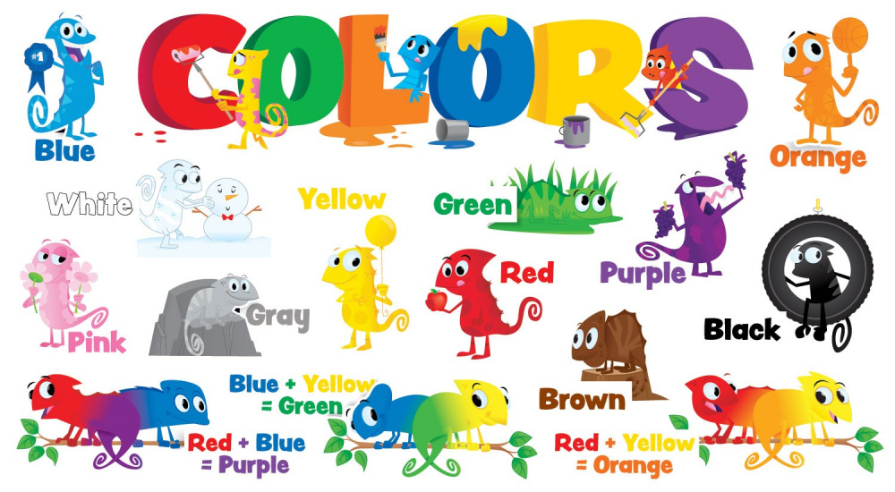 Color Chameleons Mini Bulletin Board (20 pieces)