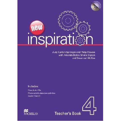 New Inspiration 4 Teacher's Book & Test CD & Class Audio CD Pack