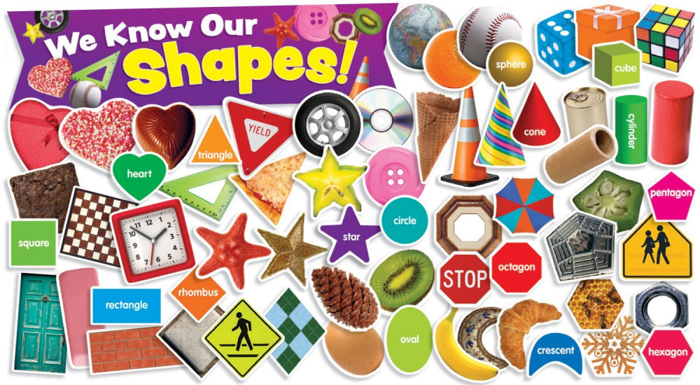 Shapes in Photos Mini Bulletin Board (65 pieces)
