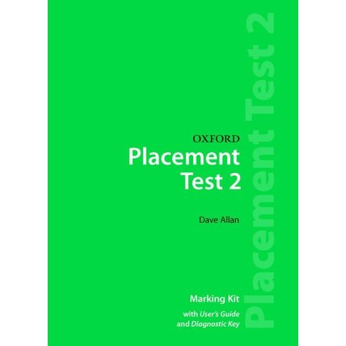 Oxford Placement Tests 2 Marking Kit