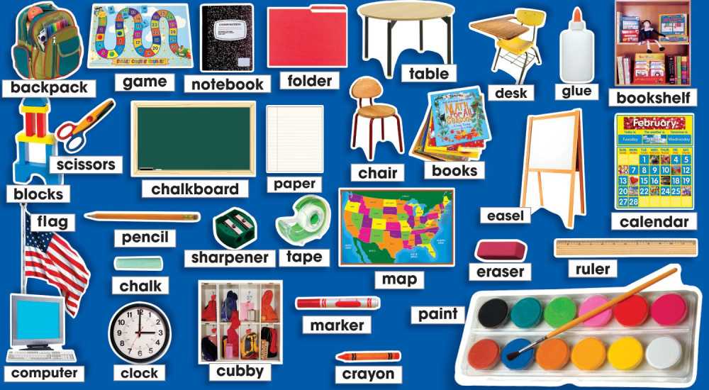 Classroom Photos & Labels Mini Bulletin Board