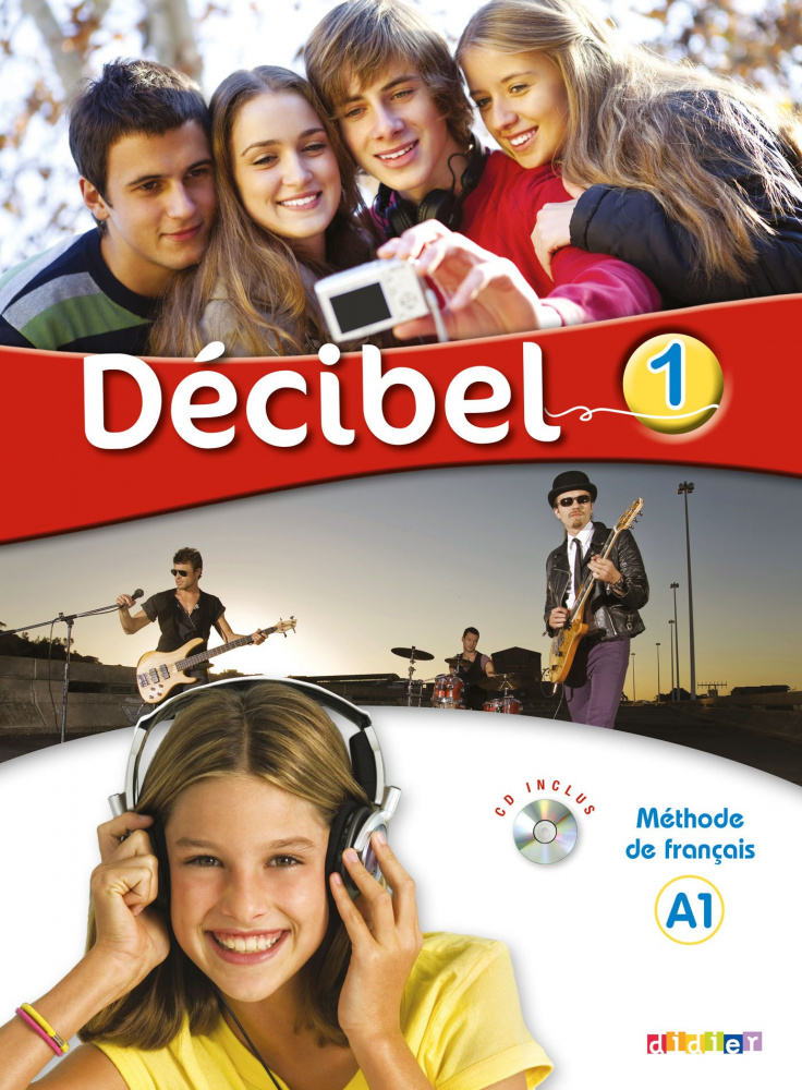Decibel 1 niveau A1 Livre de l'eleve + CD MP3 + DVD
