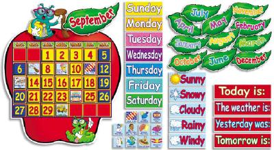 Apple Time Calendar Bulletin Board (146 pieces)