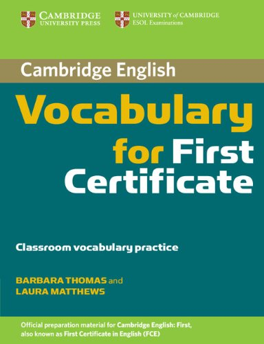 Cambridge Vocabulary for First Certificate Book without answers