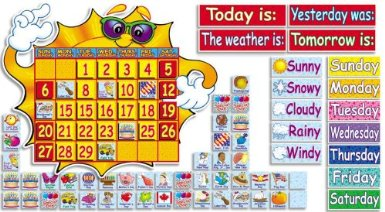Super Sunshine! Calendar Bulletin Board (144 pieces)