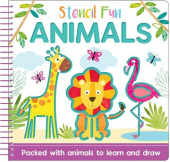 Stencil Fun Spiral: Animals