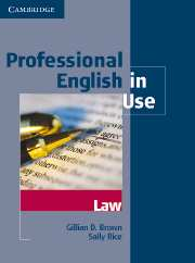 Professional English in Use Law Book with answers