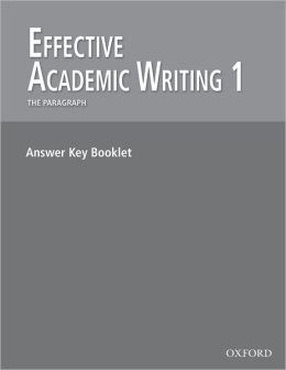 Effective Academic Writing 1: Answer Key