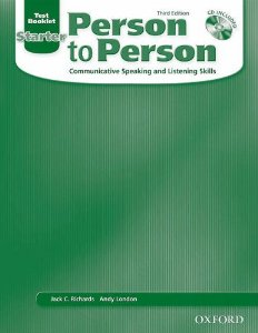 Person to Person Third Edition Starter Test Booklet