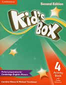 Kid's Box Second Edition 4 Activity Book with Online Resources