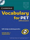 Cambridge Vocabulary for PET Book with answers and Audio CD