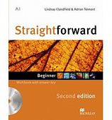 Straightforward (Second Edition) Beginner Workbook with Key + CD