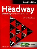 New Headway Elementary Fourth Edition Workbook and iChecker without Key
