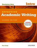 Effective Academic Writing Second Edition Intro Student Book with Student Online Access Code