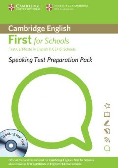 Speaking Test Preparation Pack for First for Schools Paperback with DVD