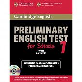Cambridge English Preliminary for Schools 1 Student's Book with answers Self-study Pack