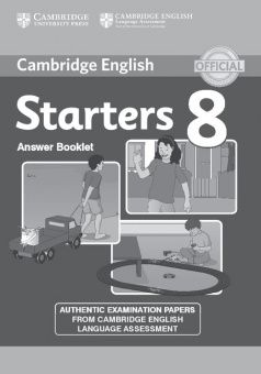 Cambridge Young Learners English Tests Starters 8 Answer Booklet