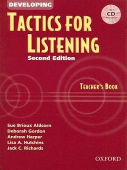 Tactics for Listening Second Edition Developing Teacher's Book with Audio CD