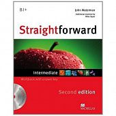 Straightforward (Second Edition) Intermediate Workbook with Key + CD