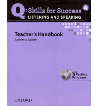 Q: Skills for Success Listening and Speaking 4 Teacher's Book with Testing Program CD-ROM