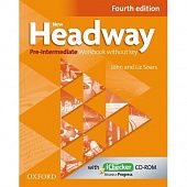 New Headway Pre-Intermediate Fourth Edition Workbook and iChecker without Key